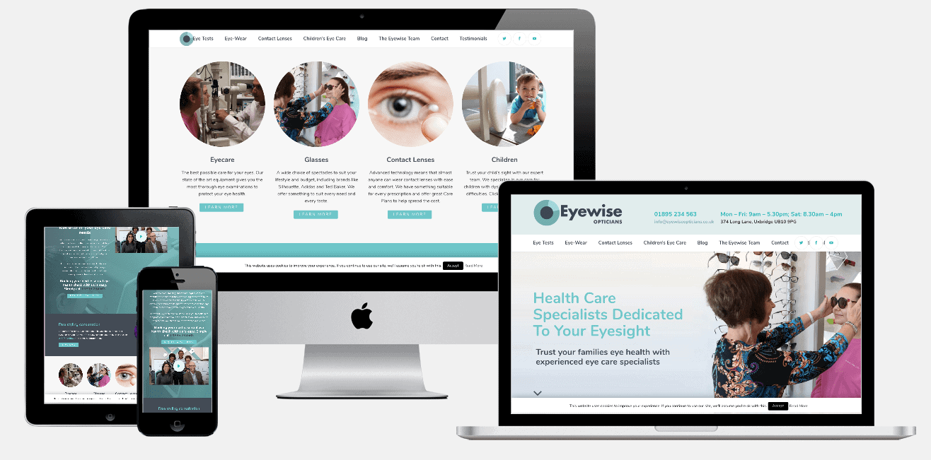 Eyewise Opticians Website